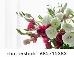 delicate pink roses in soft...   Shutterstock . vector #685715383