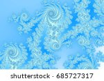 Abstract Ice Ferns   Russian...