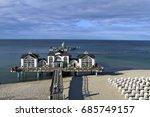 sellin pier  baltic seaside... | Shutterstock . vector #685749157