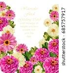 pink floral card vector.... | Shutterstock .eps vector #685757917