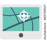 navigation vector icon  | Shutterstock .eps vector #685759027
