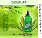 tea tree elixir based on... | Shutterstock .eps vector #685760857