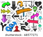 set of hand drawn arrows | Shutterstock .eps vector #68577271