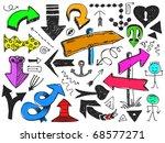 set of hand drawn arrows | Shutterstock .eps vector #68577271