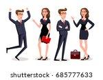 business people teamwork ... | Shutterstock .eps vector #685777633