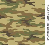 seamless camouflage pattern.... | Shutterstock .eps vector #685781443