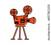 film projector icon image  | Shutterstock .eps vector #685782103