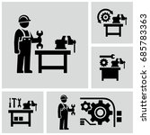 industrial work vector icons... | Shutterstock .eps vector #685783363