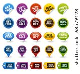 colorful vector badges and tags | Shutterstock .eps vector #68579128