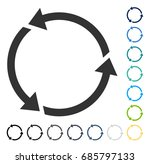 recycle icon. vector... | Shutterstock .eps vector #685797133