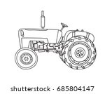 old tractor vintage hand drawn... | Shutterstock .eps vector #685804147