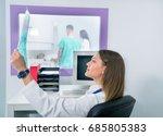 confident pleasant doctor... | Shutterstock . vector #685805383