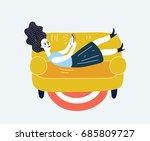 cartoon funny illustration of...   Shutterstock .eps vector #685809727