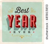 vintage style postcard   best... | Shutterstock .eps vector #685815853
