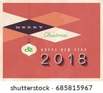 vintage 2018 new year's eve... | Shutterstock .eps vector #685815967
