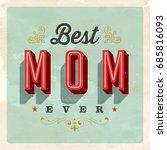 vintage style postcard   best... | Shutterstock .eps vector #685816093