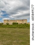 Small photo of Borgholm Castle on Oland, Sweden, is today only a ruin of the fortress that was first built in the second half of the 13th century and rebuilt many times in later centuries