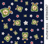 children's pattern with cute... | Shutterstock .eps vector #685860067