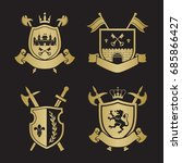 coats of arms   shields with... | Shutterstock .eps vector #685866427