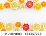 Citrus Fruits Pattern Of Lemon...