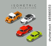 isometric car collections ... | Shutterstock .eps vector #685880053