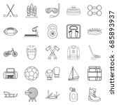 racetrack icons set. outline... | Shutterstock .eps vector #685893937