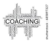 coaching tag cloud | Shutterstock .eps vector #685897327
