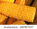 mexican corn cooked for food... | Shutterstock . vector #685907557