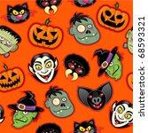 halloween characters vector... | Shutterstock .eps vector #68593321