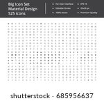big set of 525 icons | Shutterstock .eps vector #685956637