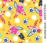 Stock vector flower pattern 685972543