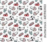 shoes vector background.... | Shutterstock .eps vector #685983403