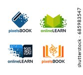 set of online education logo...