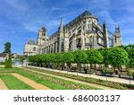 bourges cathedral  roman... | Shutterstock . vector #686003137