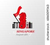 vector illustration august 9th... | Shutterstock .eps vector #686009563