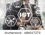 iot   internet of things... | Shutterstock . vector #686017273