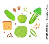 food cellulose isolated healthy ... | Shutterstock .eps vector #686022913