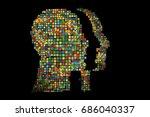 generative human head shape...   Shutterstock .eps vector #686040337