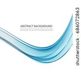 blue flowing lines.abstract...   Shutterstock .eps vector #686072863
