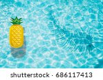 pineapple pool float  ring... | Shutterstock . vector #686117413