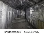 abandoned underground tunnels... | Shutterstock . vector #686118937