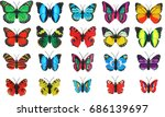 collection set colorful... | Shutterstock . vector #686139697