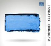 brush stroke and texture.... | Shutterstock .eps vector #686148037