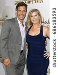 Small photo of LOS ANGELES - JUL 27: Shawn Christian, Alison Sweeney at the Hallmark TCA Summer 2017 Party at the Private Residence on July 27, 2017 in Beverly Hills, CA