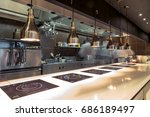 restaurant kitchen interior ... | Shutterstock . vector #686189497