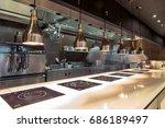 restaurant kitchen interior ... | Shutterstock . vector #686189497