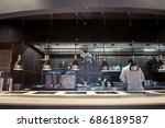 variety of utensils on counter... | Shutterstock . vector #686189587