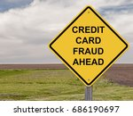 caution sign   credit card... | Shutterstock . vector #686190697