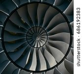 turbine blades wings effect... | Shutterstock . vector #686192383
