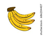 bananas vector illustration | Shutterstock .eps vector #686204407
